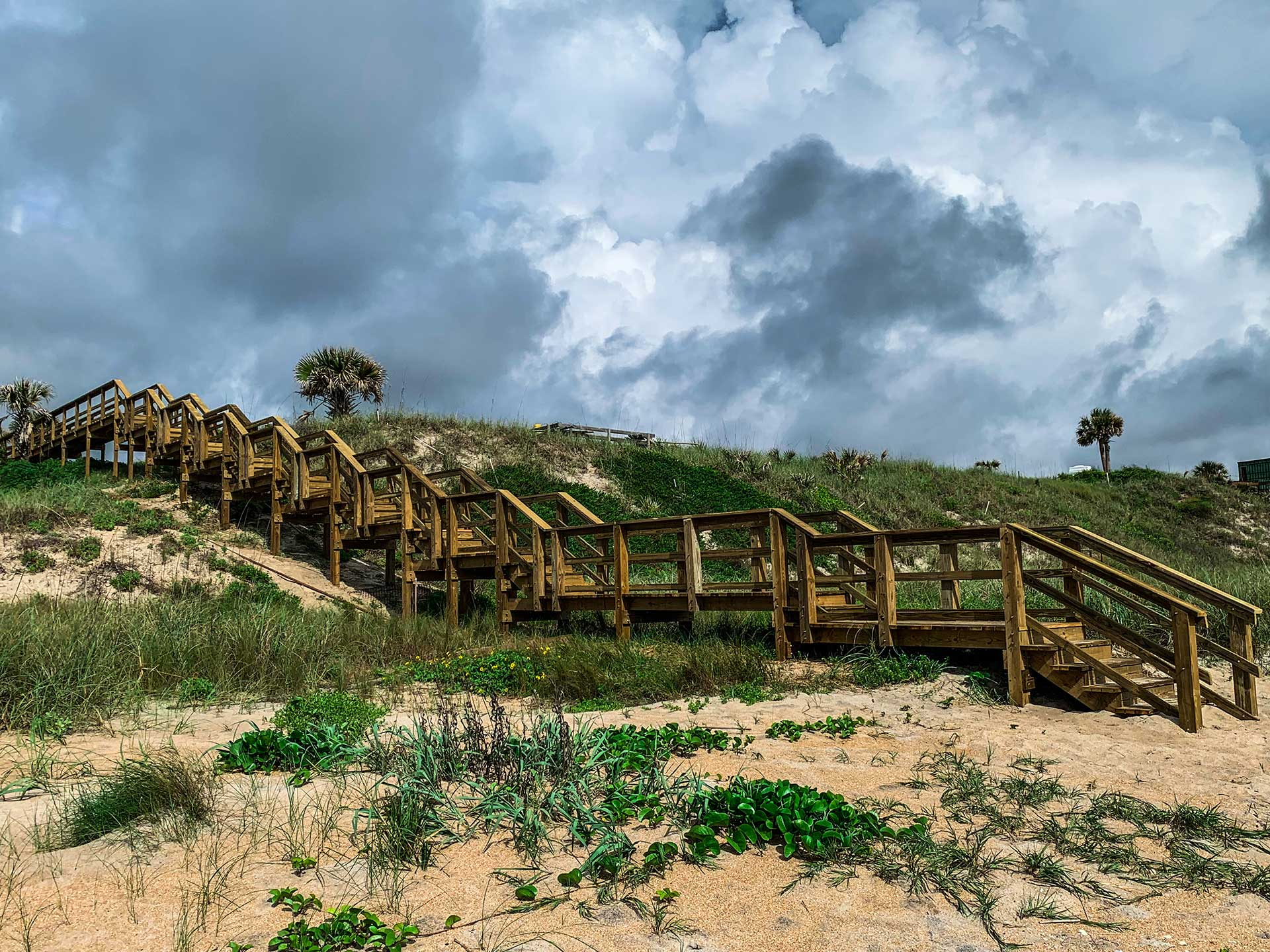 beach walk and steps/stairs and handrails