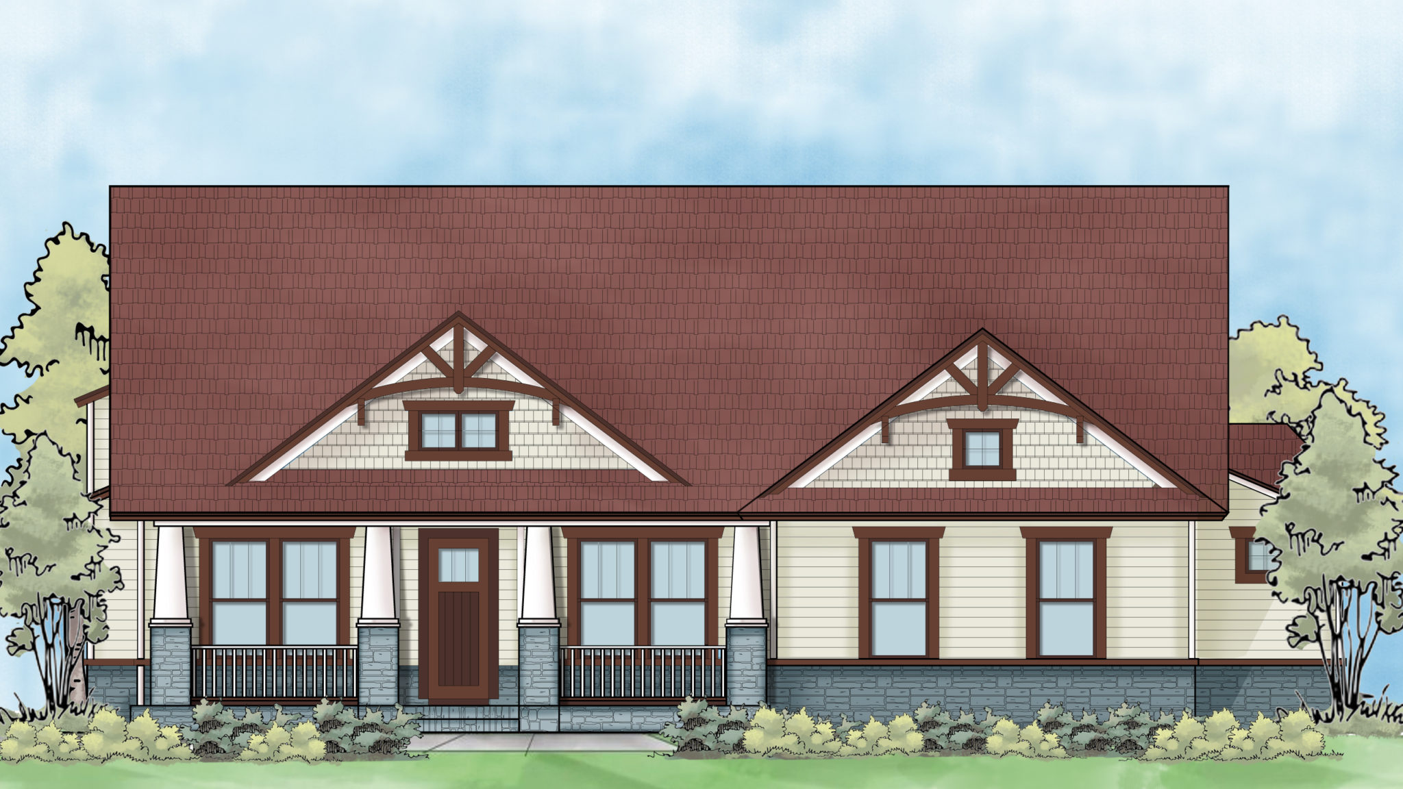residential home color rendering design